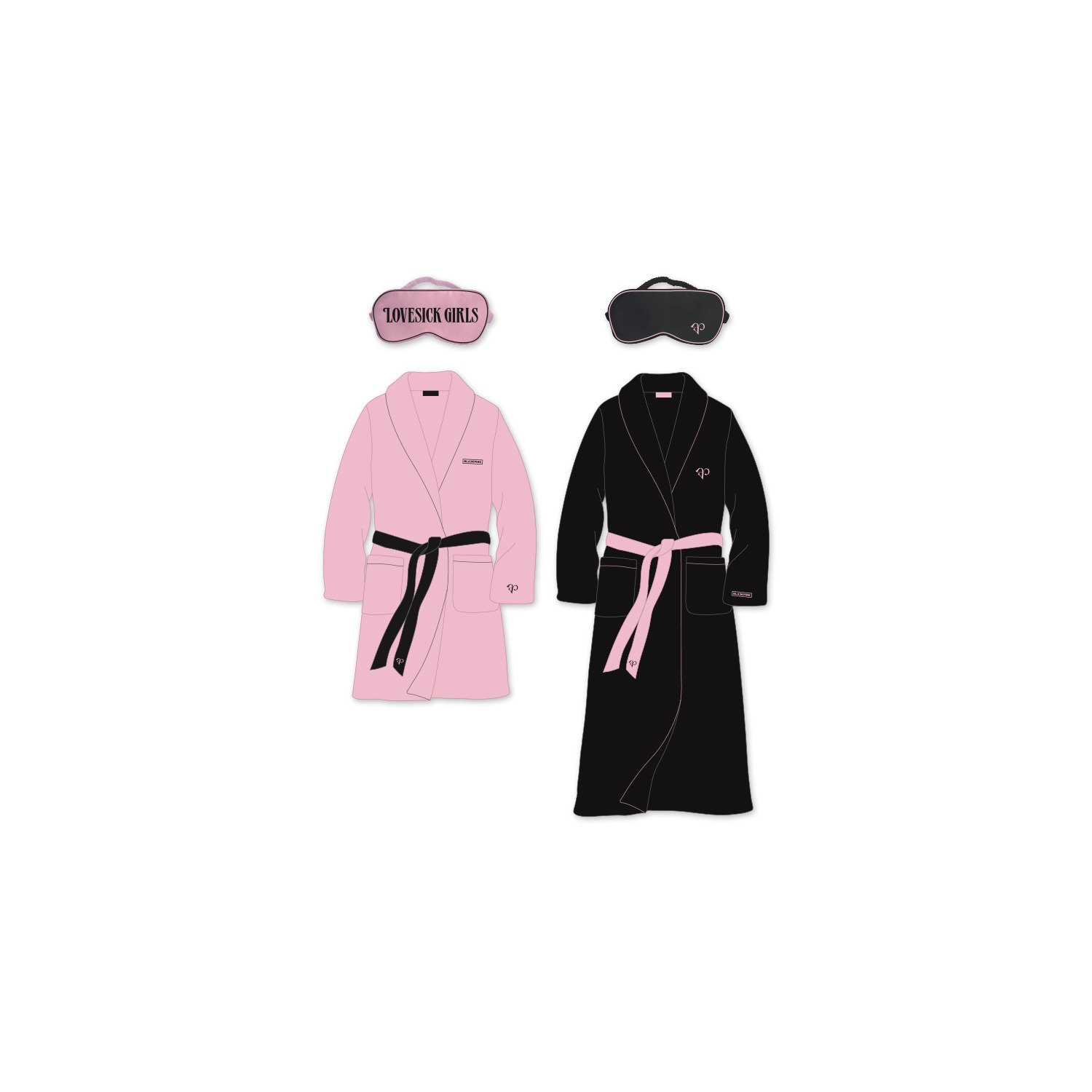 [THEALBUM] BLACKPINK ROBE & SLEEPING MASK SET