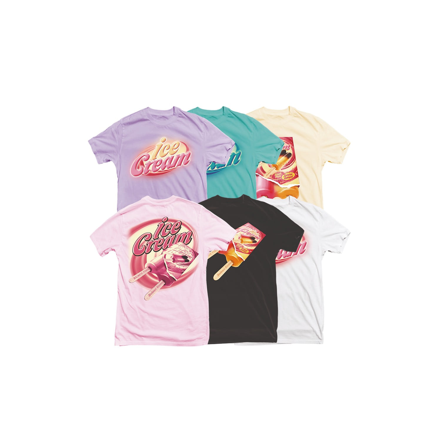 [SOPOOOM] BLACKPINK ICECREAM T-SHIRTS_TYPE 1