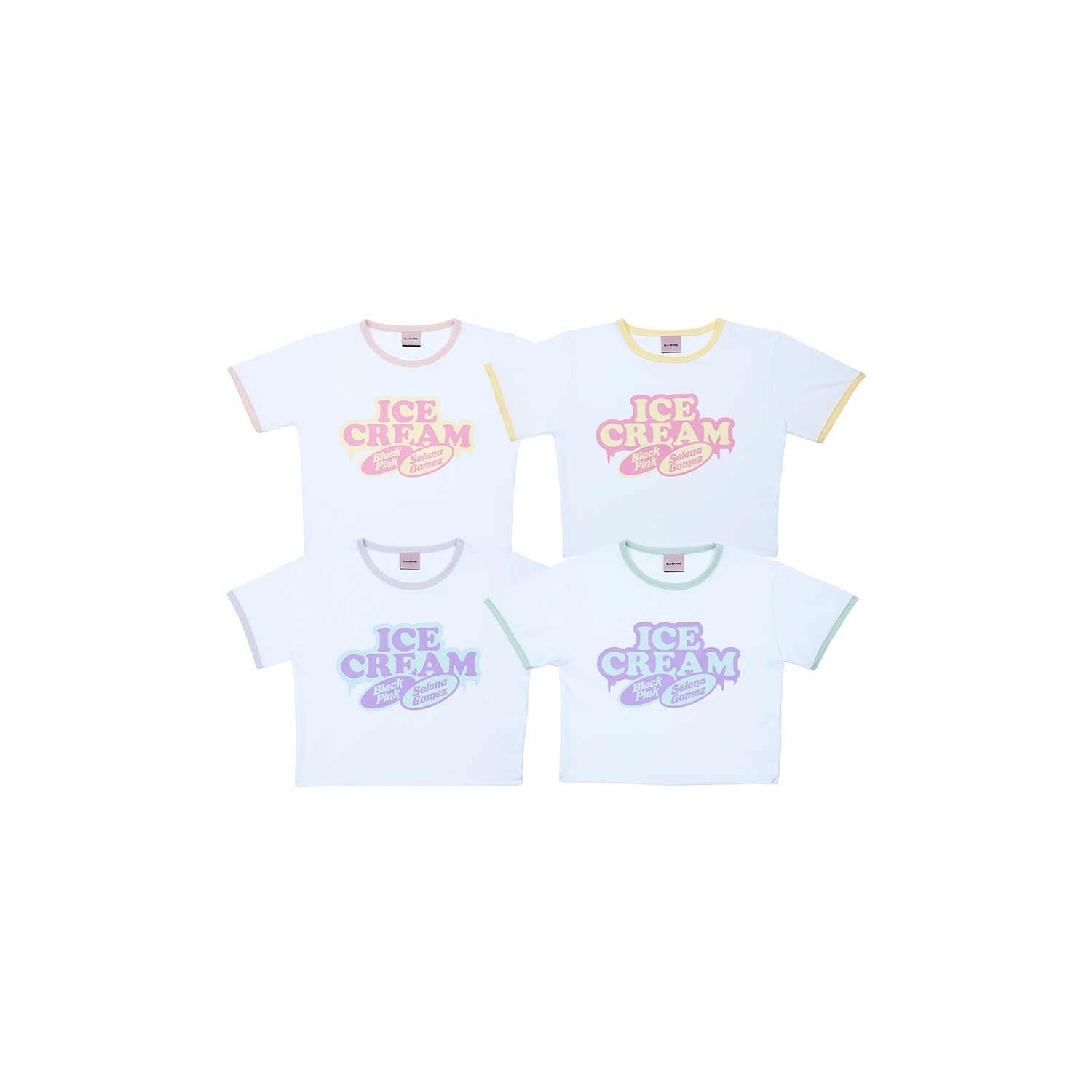 [ICECREAM] BLACKPINK CROPPED T-SHIRTS