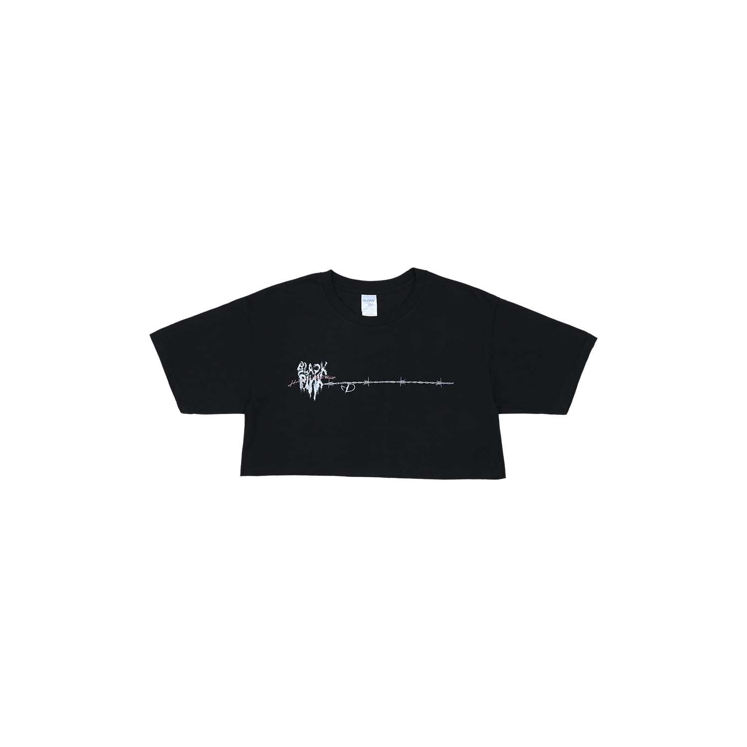[H.Y.L.T] BLACKPINK CROPPED T-SHIRTS_MELTING HEART_BLACK