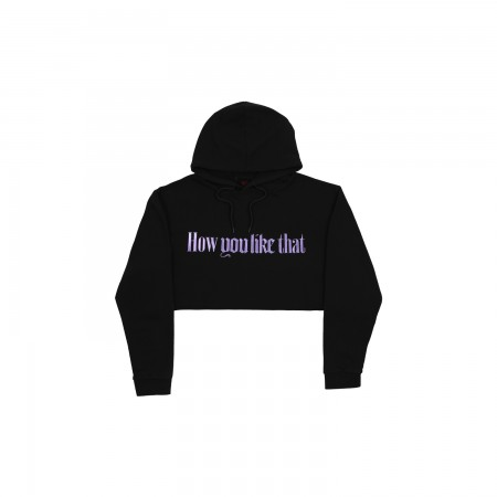 [H.Y.L.T] BLACKPINK CROPPED HOODIE_DARK GRAY