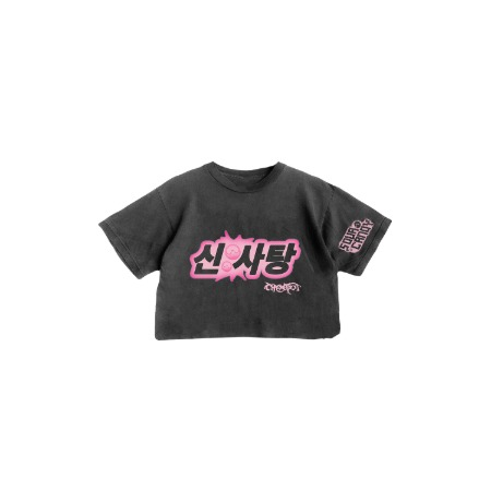 [SOURCANDY] BLACKPINK X LADYGAGA CROPPED T-SHIRTS