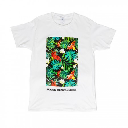 [HAWAII] SECHSKIES TROPICAL T-SHIRTS_WHITE