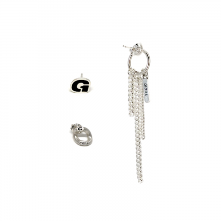 [1THELAND] EUNJIWON EARRINGS SET_G LOGO