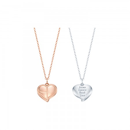[KIND] BLACKPINK HEART LOGO SILVER NECKLACE